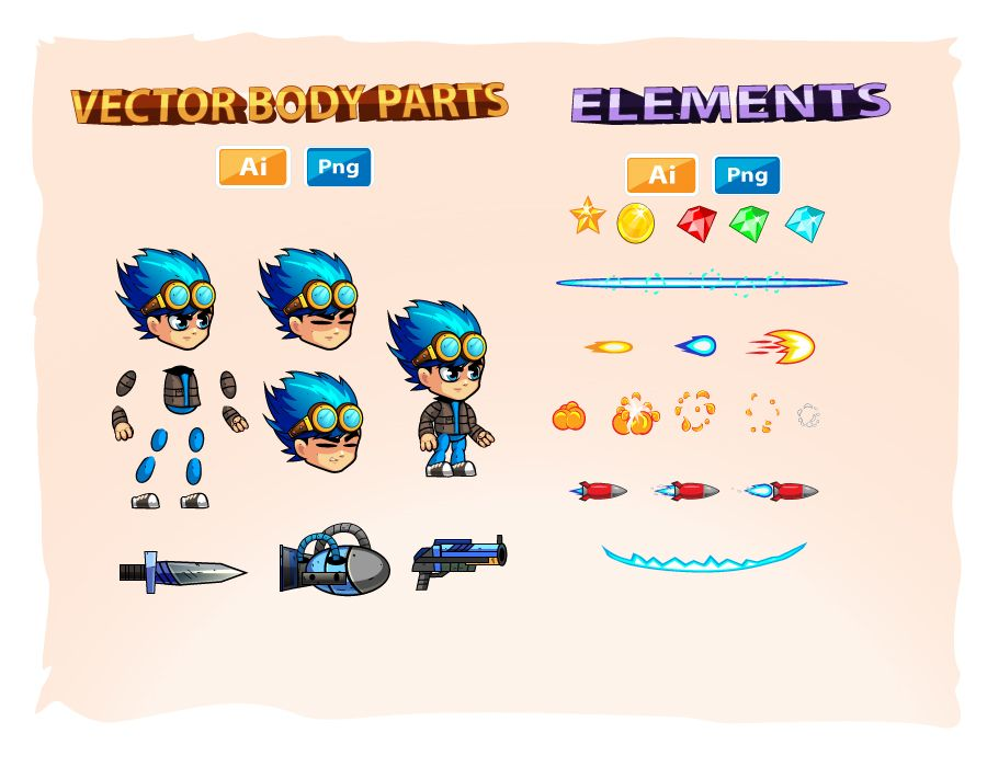 2D Game Character Sprites 9 Screenshot 3