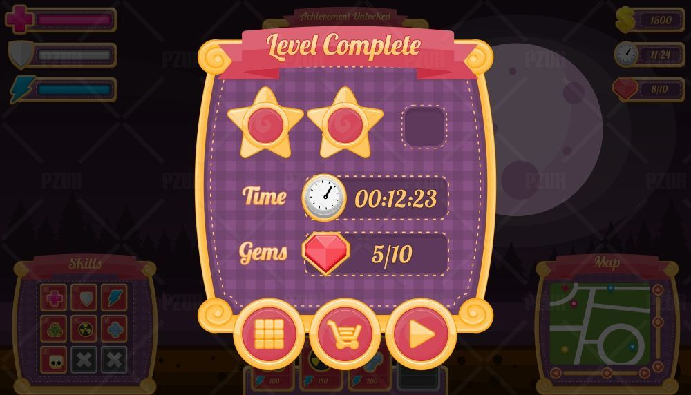 Halloween Night - Game GUI Screenshot 1