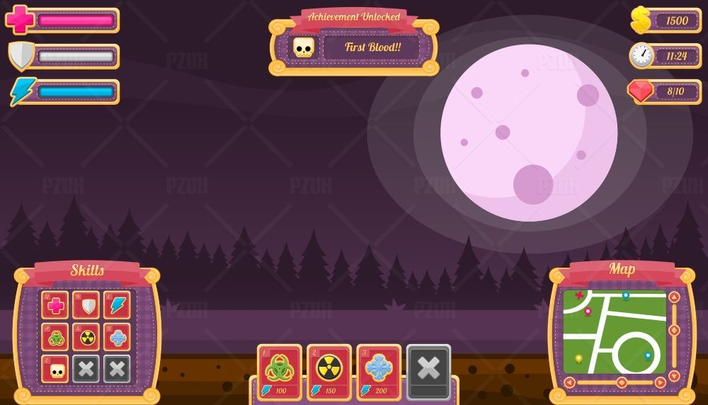 Halloween Night - Game GUI Screenshot 2