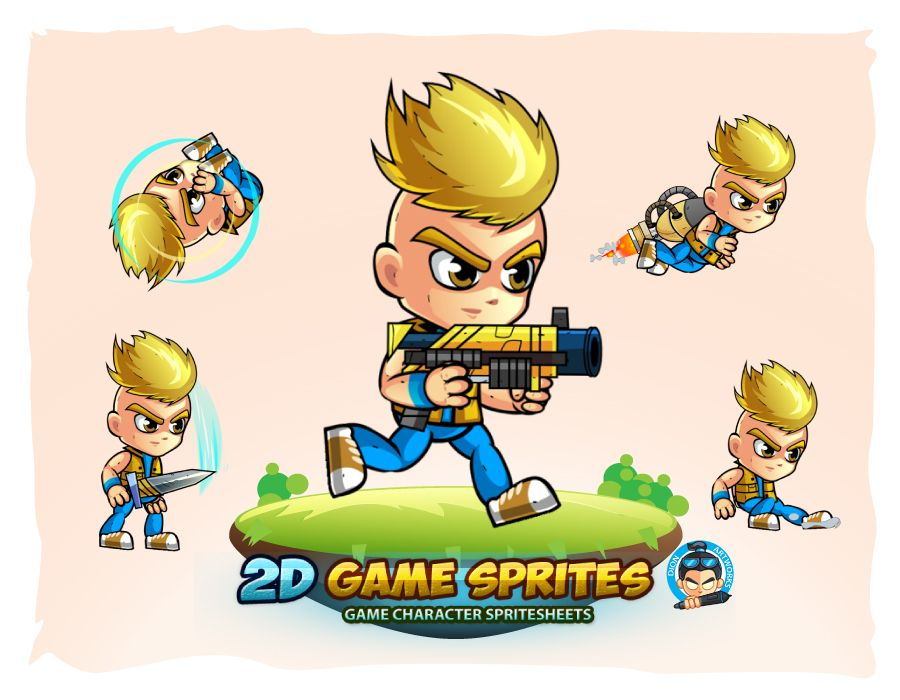 2D Game Character Sprites 10 Screenshot 1