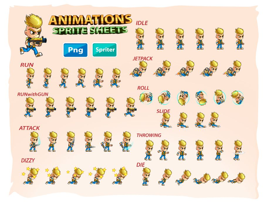 2D Game Character Sprites 10 Screenshot 2