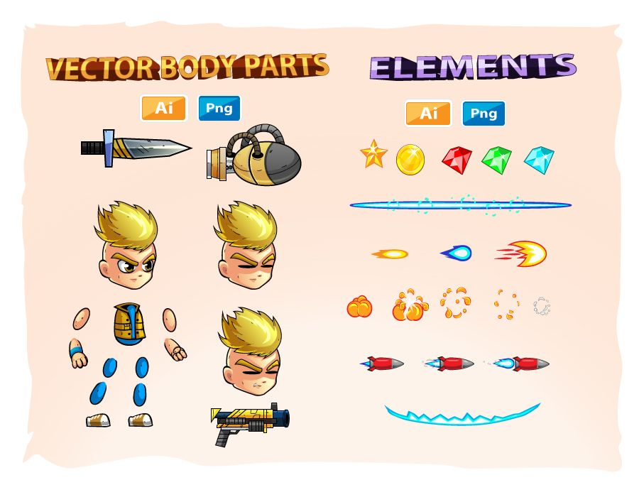 2D Game Character Sprites 10 Screenshot 3