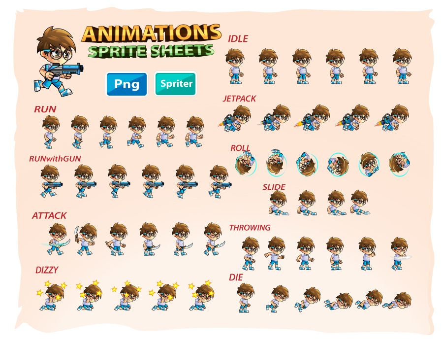 2D Game Character Sprites 11 Screenshot 2