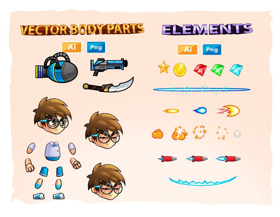 2D Game Character Sprites 11 Screenshot 3