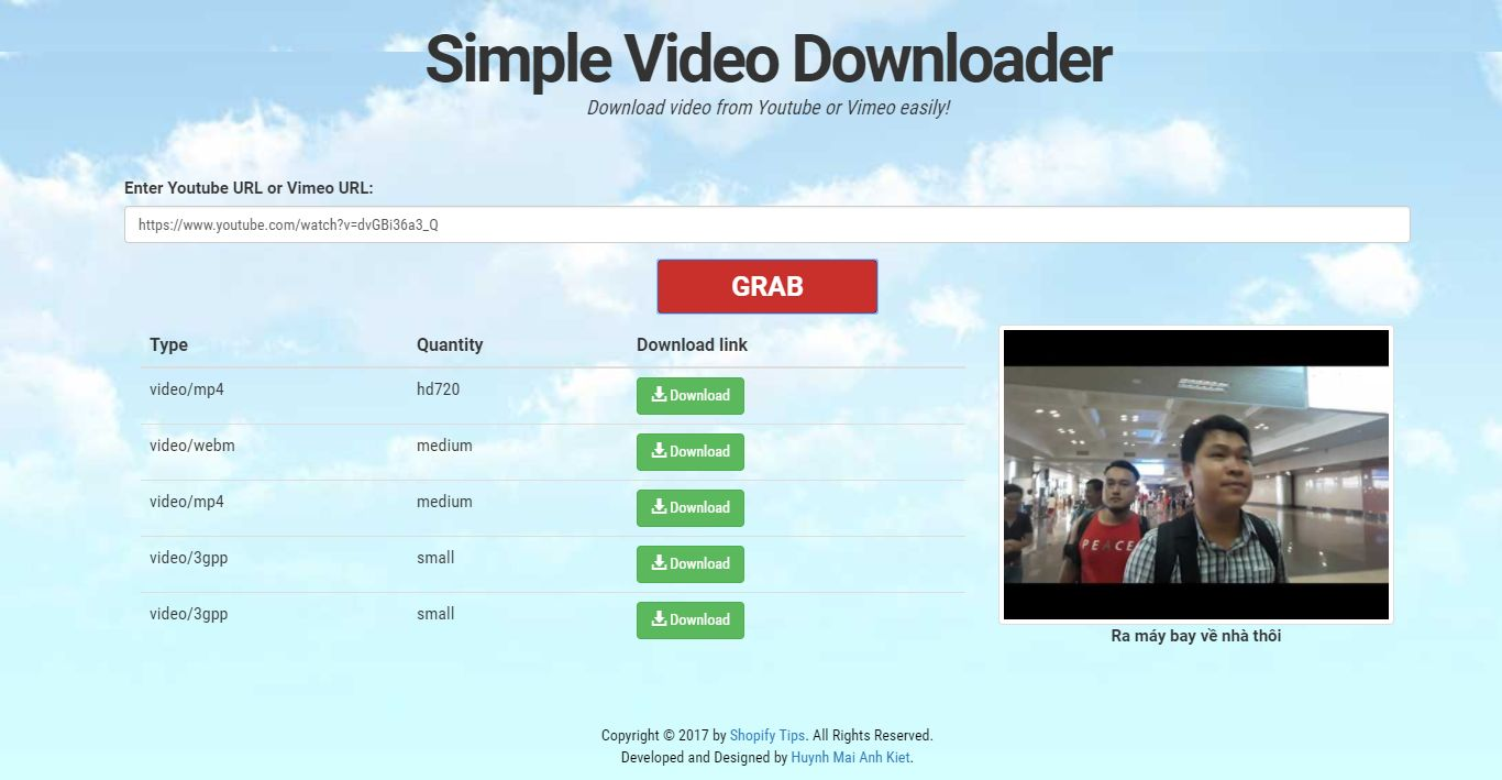 Youtube And Vimeo Video Downloader PHP Script Screenshot 2