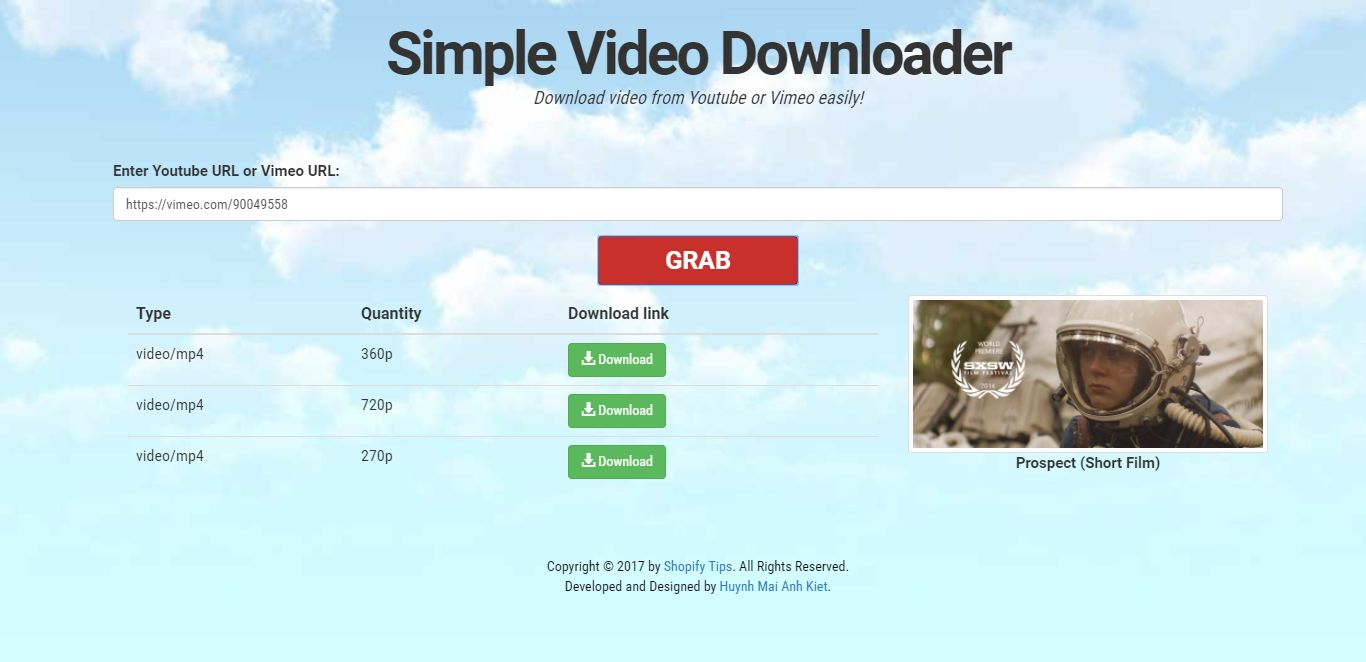 Youtube And Vimeo Video Downloader PHP Script Screenshot 3