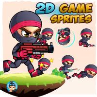 Ninja 2D Game Sprites