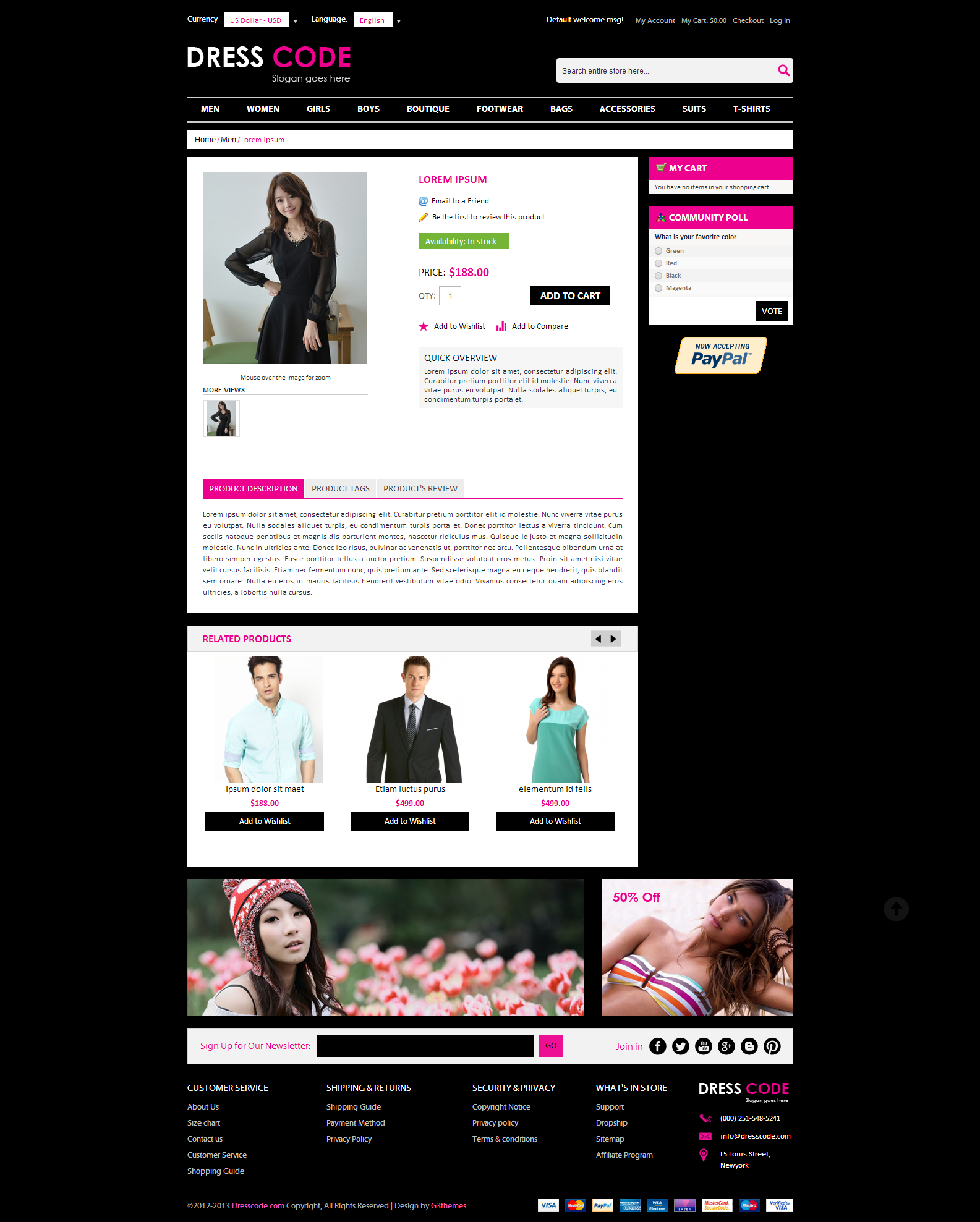Dress Code - Magento FashionTheme Screenshot 2