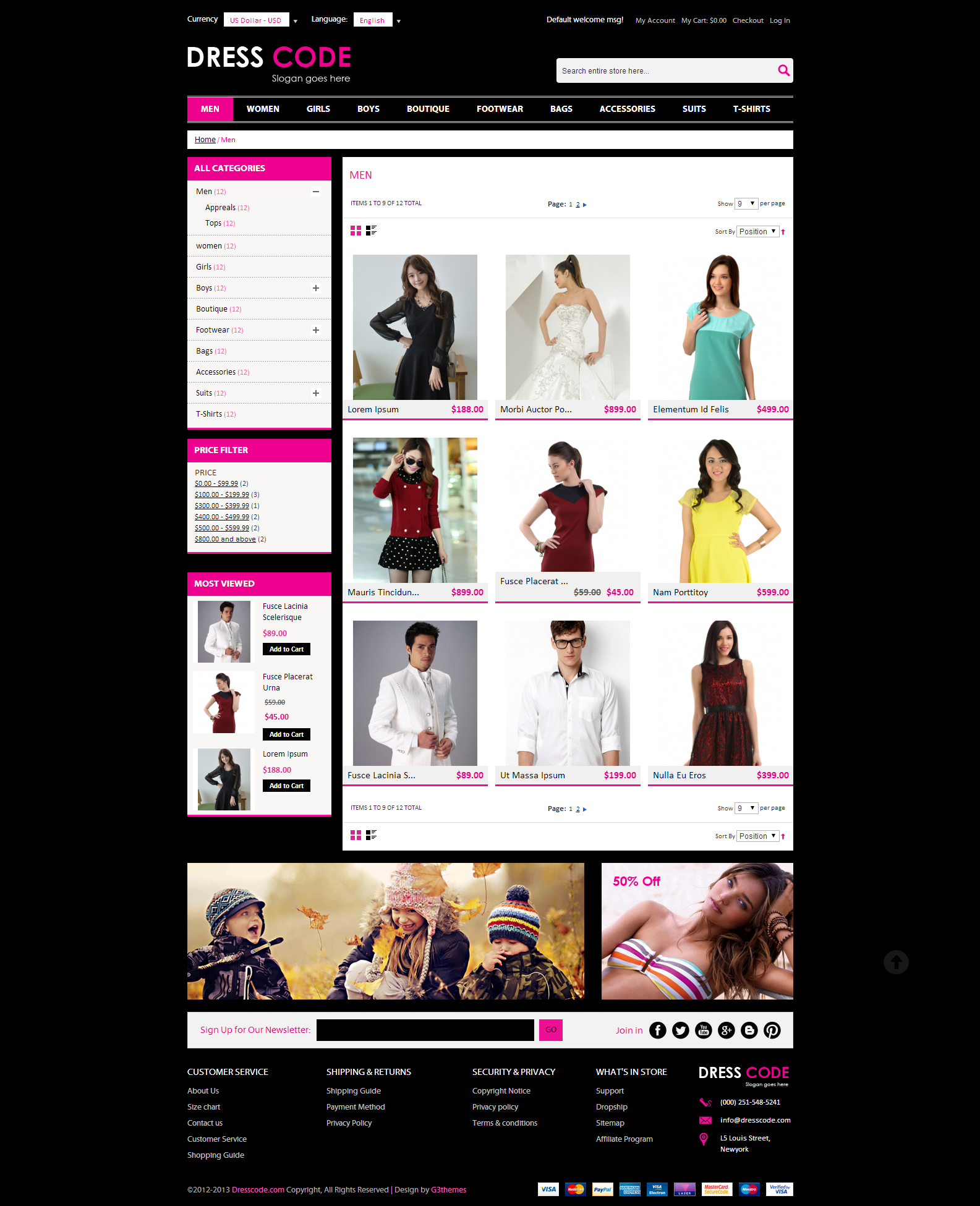 Dress Code - Magento FashionTheme Screenshot 4
