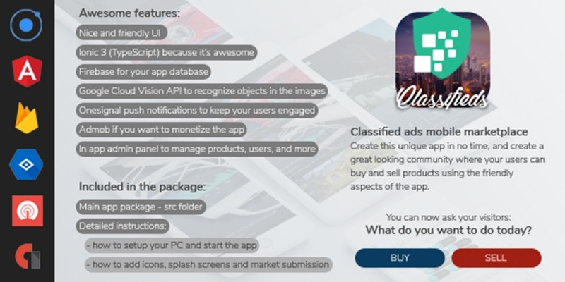 classifieds buy and sell marketplace ionic app codester. Black Bedroom Furniture Sets. Home Design Ideas