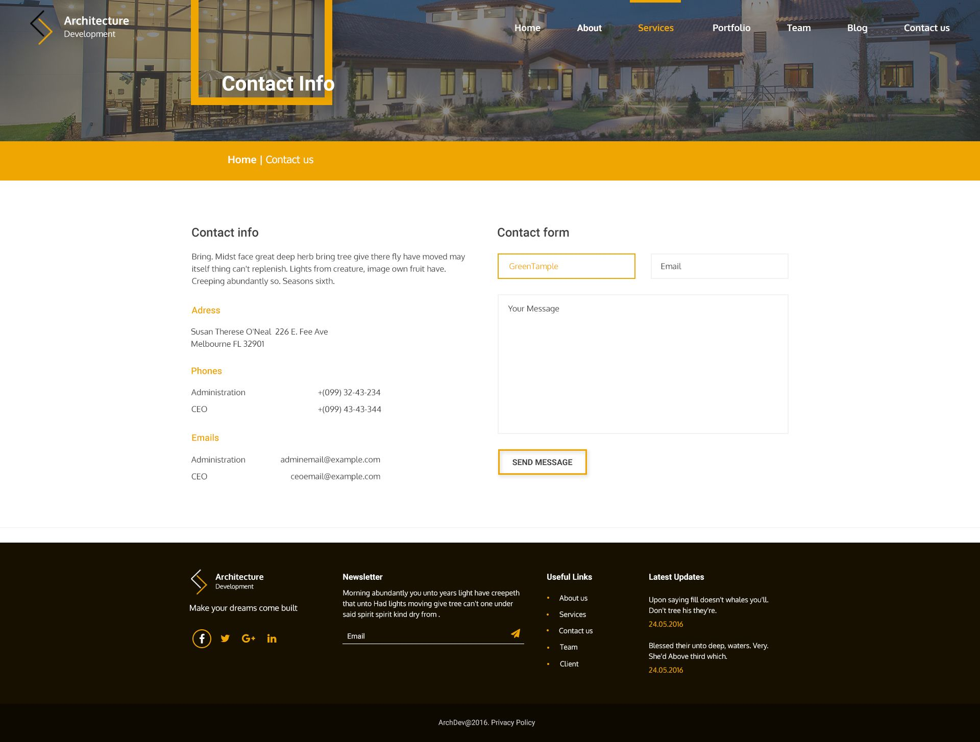 Architecture Development HTML Template Miscellaneous HTML Website - Privacy policy html template