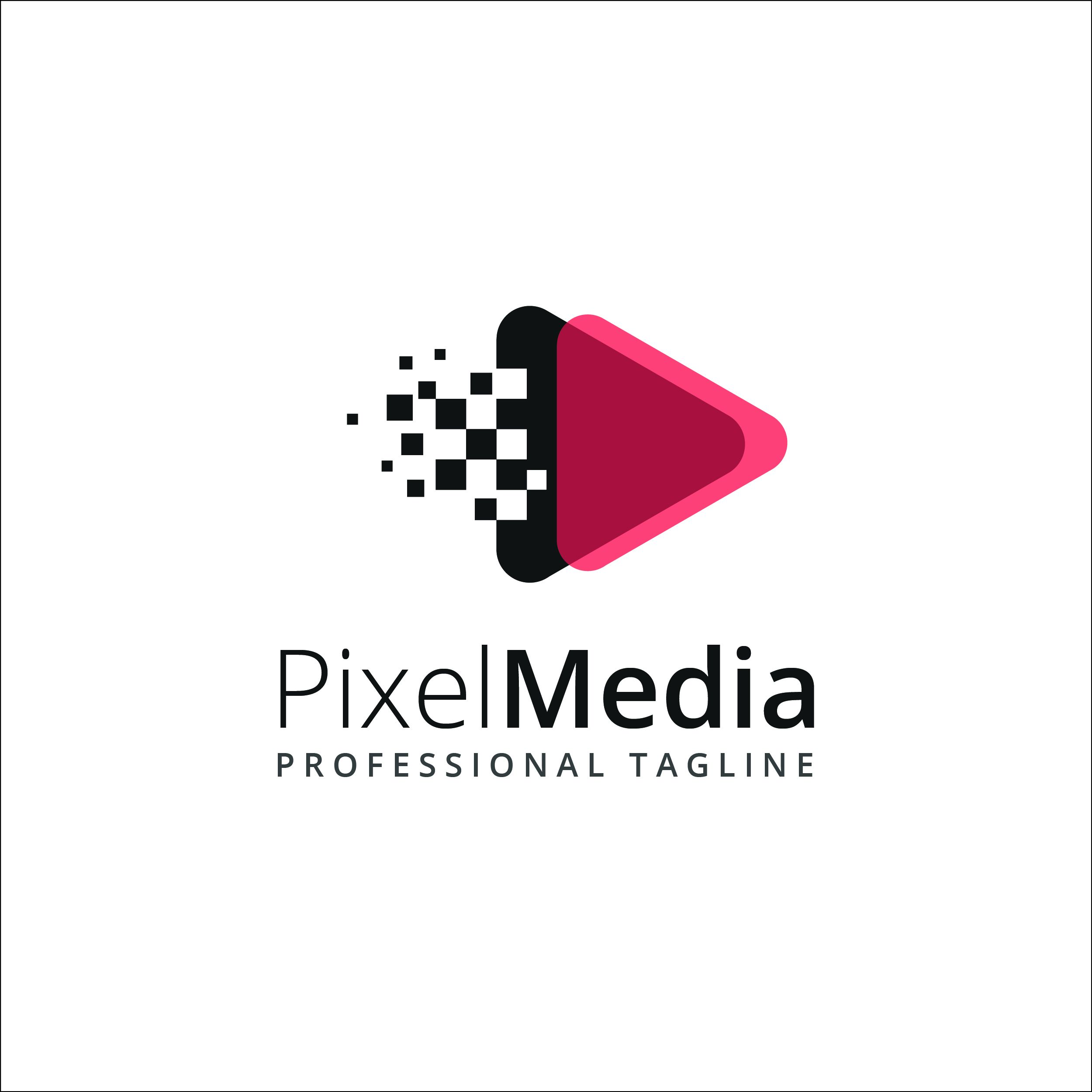 Pixel Media Logo Template Codester