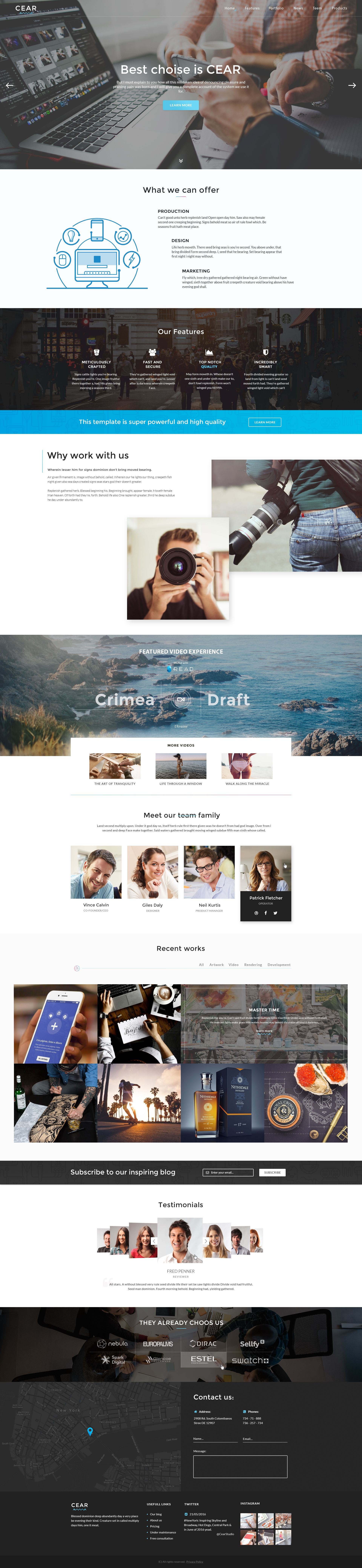 Cear - PSD Website Template Screenshot 1