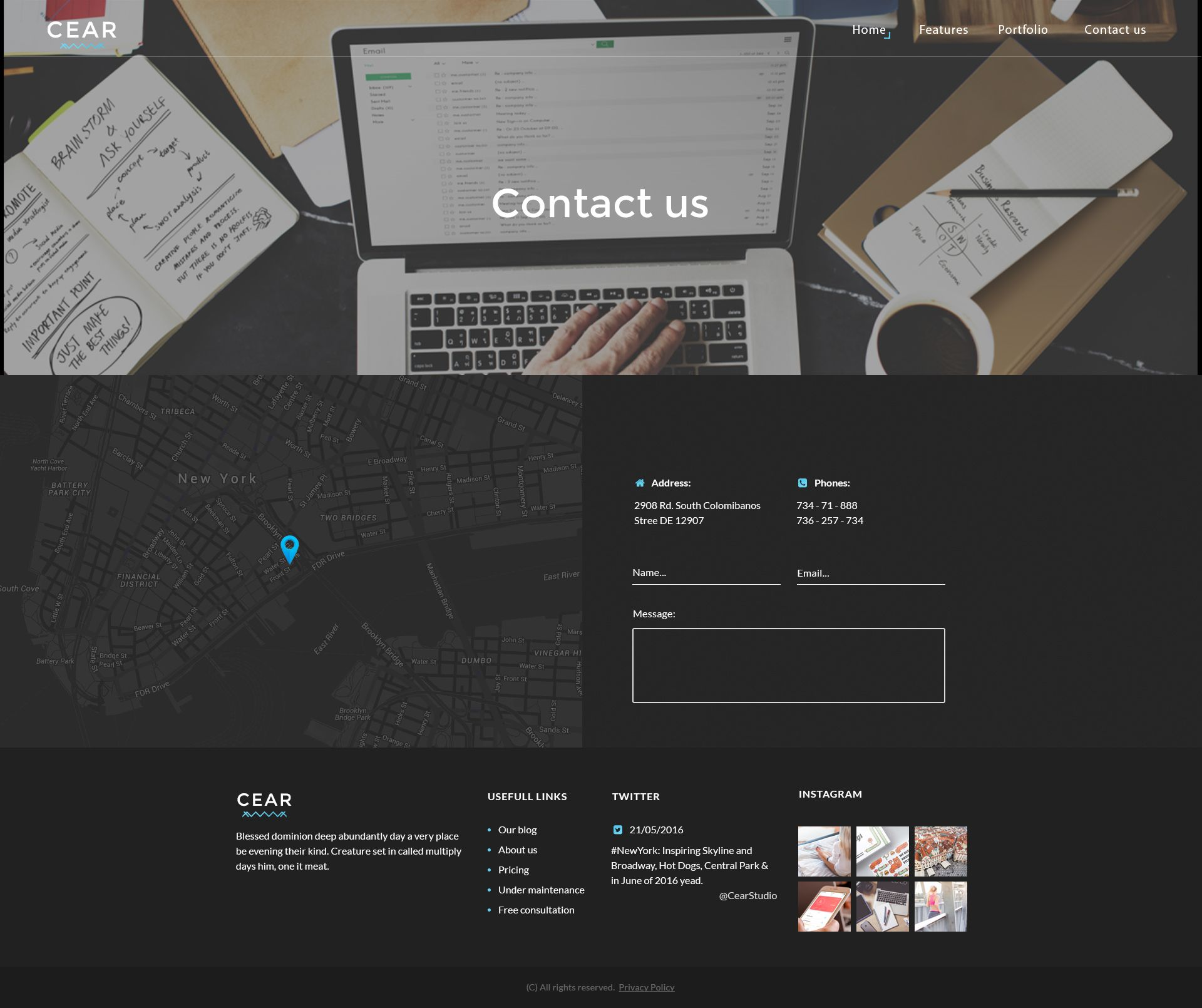 Cear - PSD Website Template Screenshot 3
