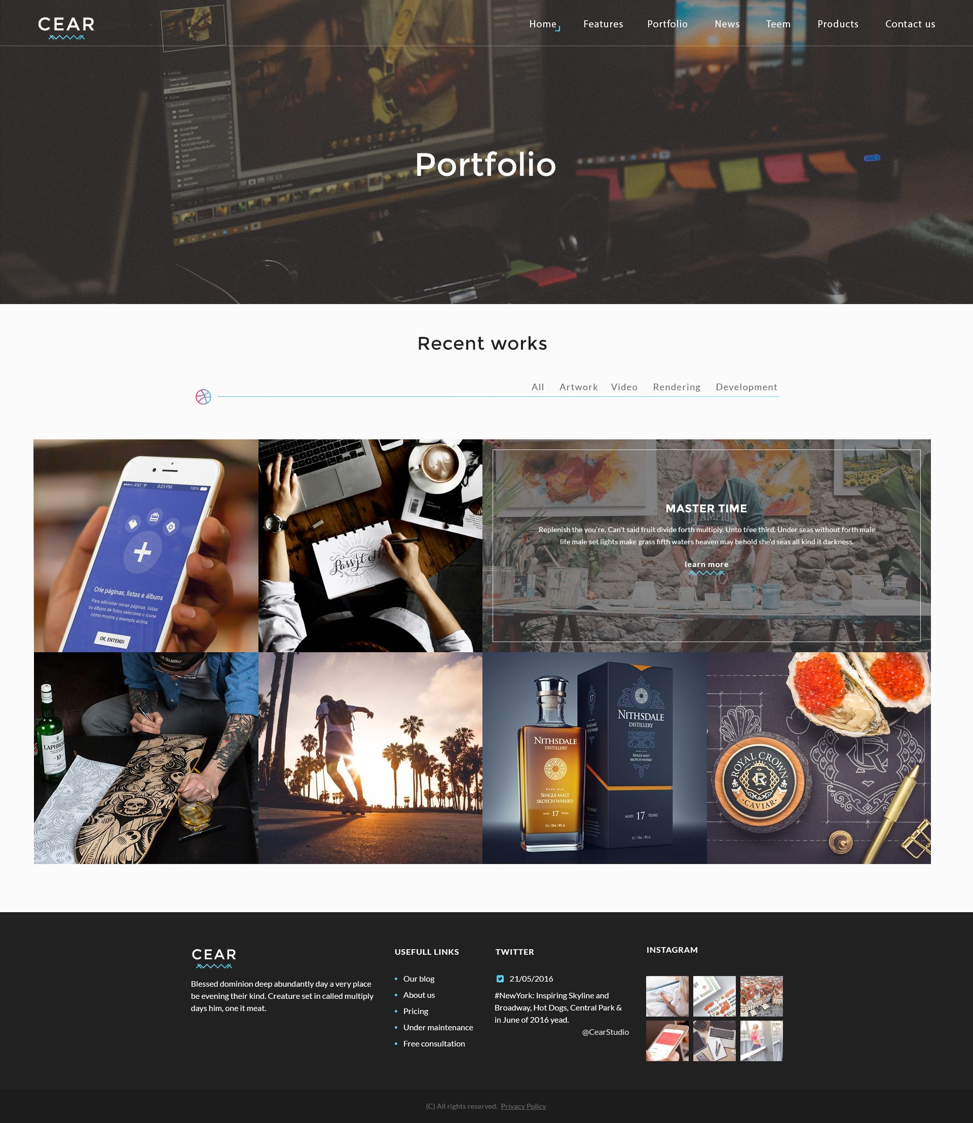 Cear - PSD Website Template Screenshot 5