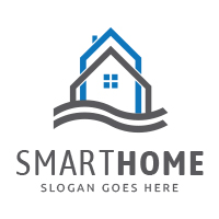 Smart Home - Logo Template