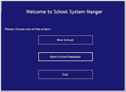 School System Manager Screenshot 1