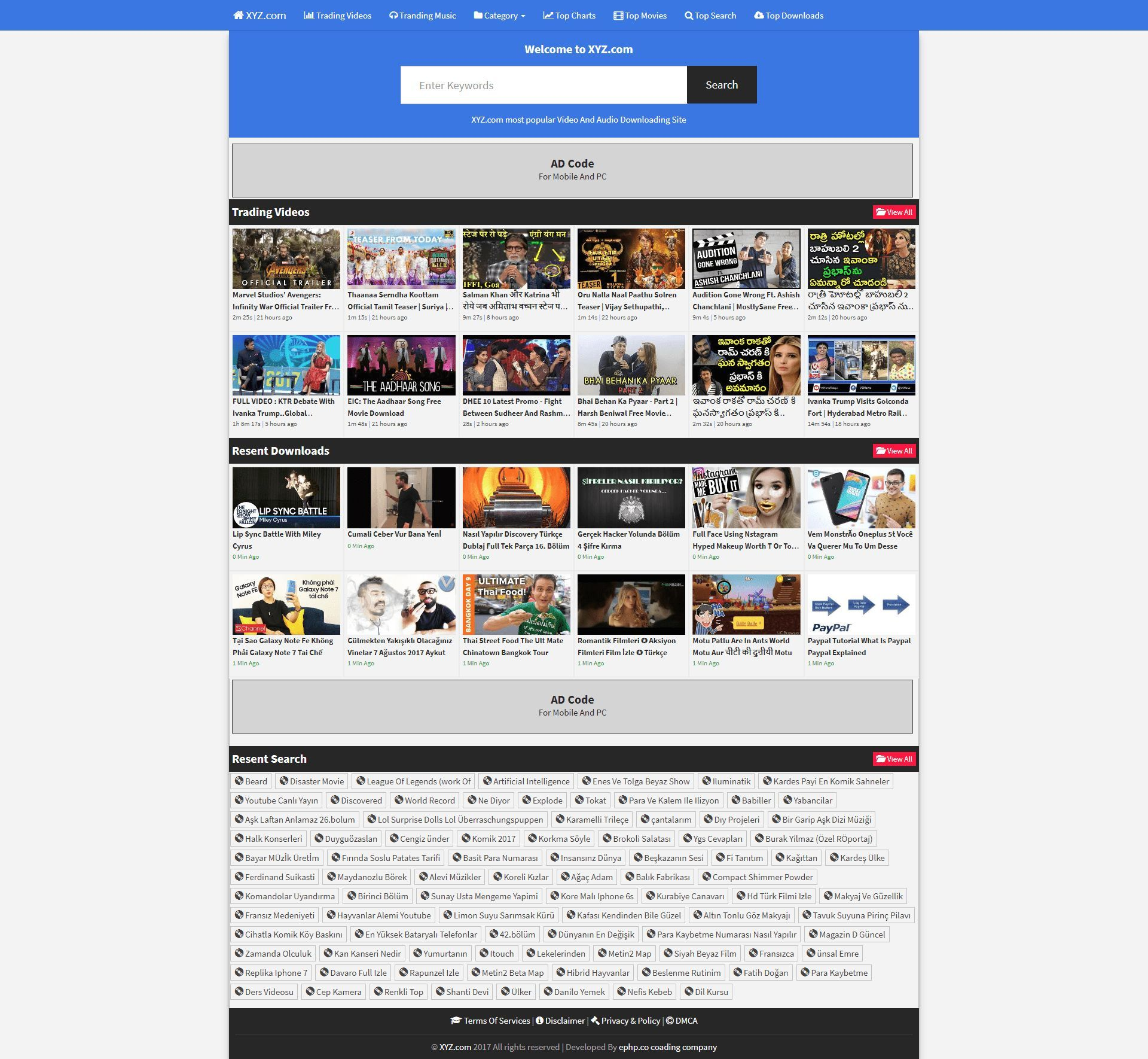 VideoDuo - Video Search Engine PHP Script Screenshot 2
