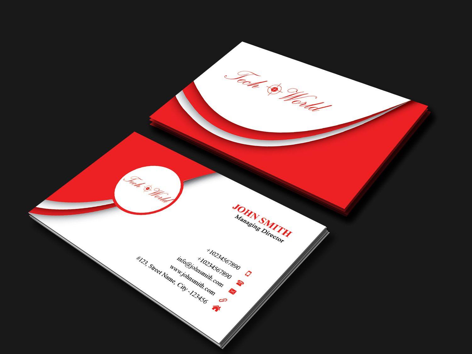 Business Card Template Screenshot 1