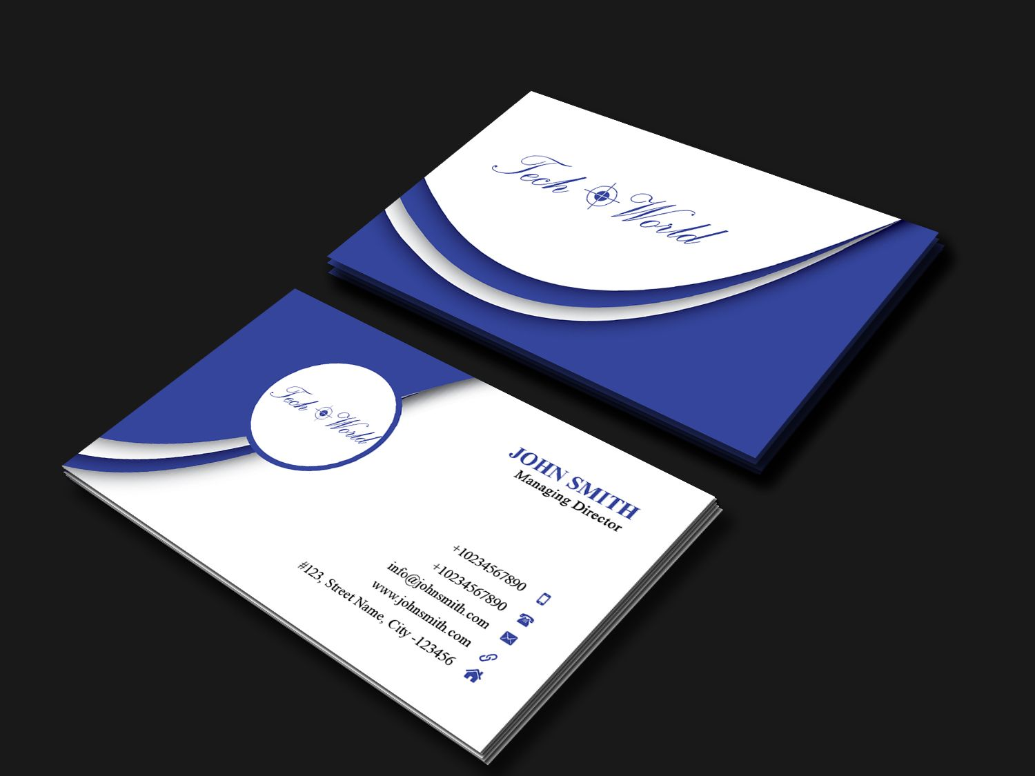 Business Card Template Screenshot 2