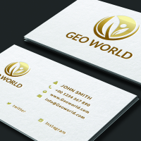 Minimalistic Golden Business card