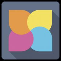 Flat 4 Side Logo Template