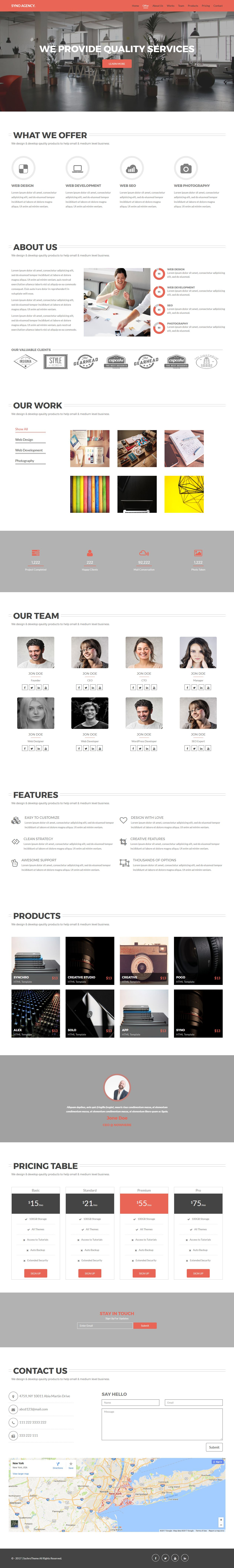 Syno Agency - One Page HTML5 Agency Template  Screenshot 1