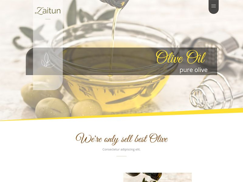 Olive Zaitun - HTML Website Template Screenshot 1