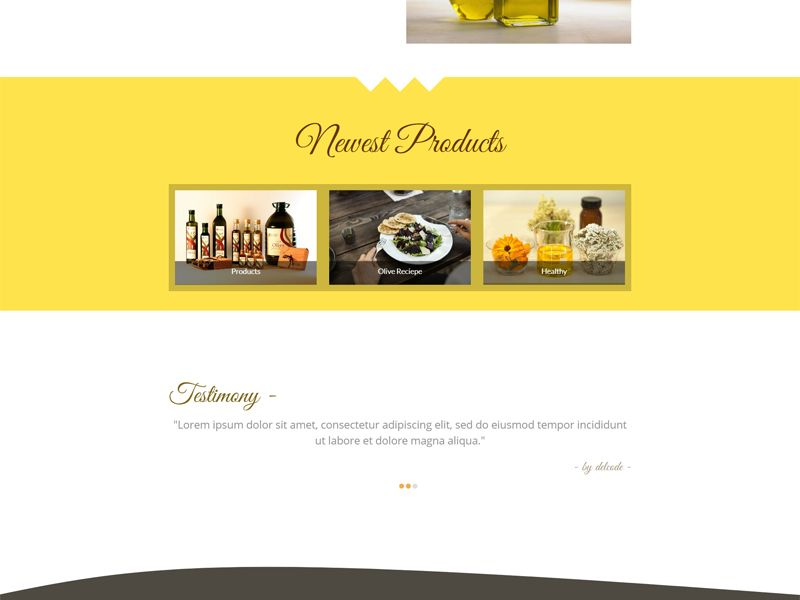 Olive Zaitun - HTML Website Template Screenshot 2