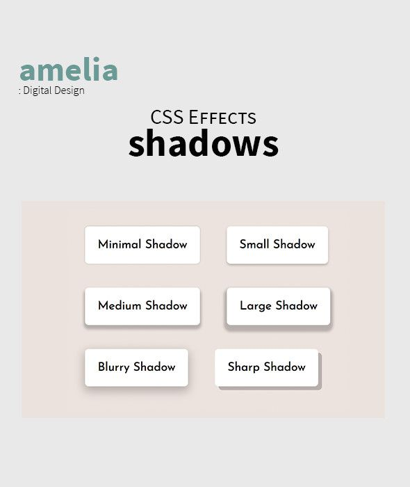 CSS Shadow Effects Screenshot 1