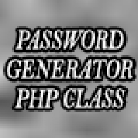 Password Generator PHP Class
