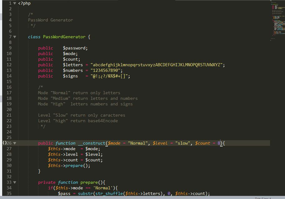 Password Generator PHP Class Screenshot 3