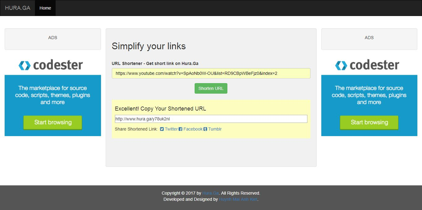 URL Shortener Without Database PHP Script Screenshot 1