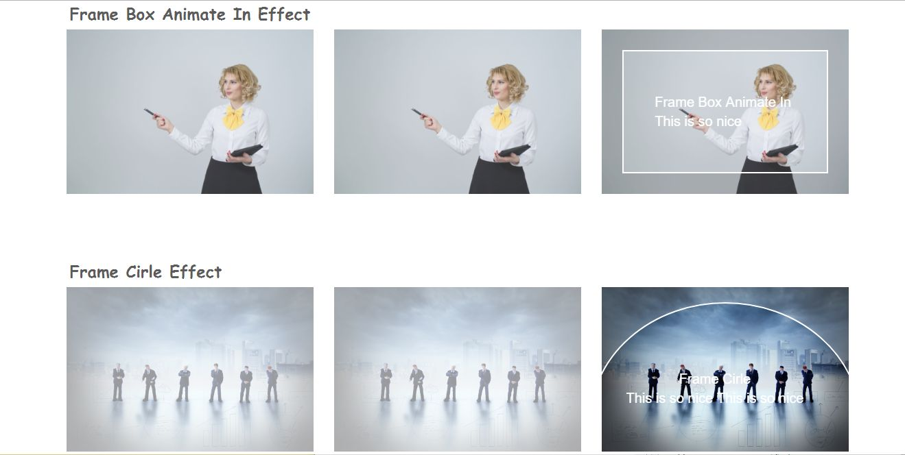 CSS3 Image Hover Effects Screenshot 1
