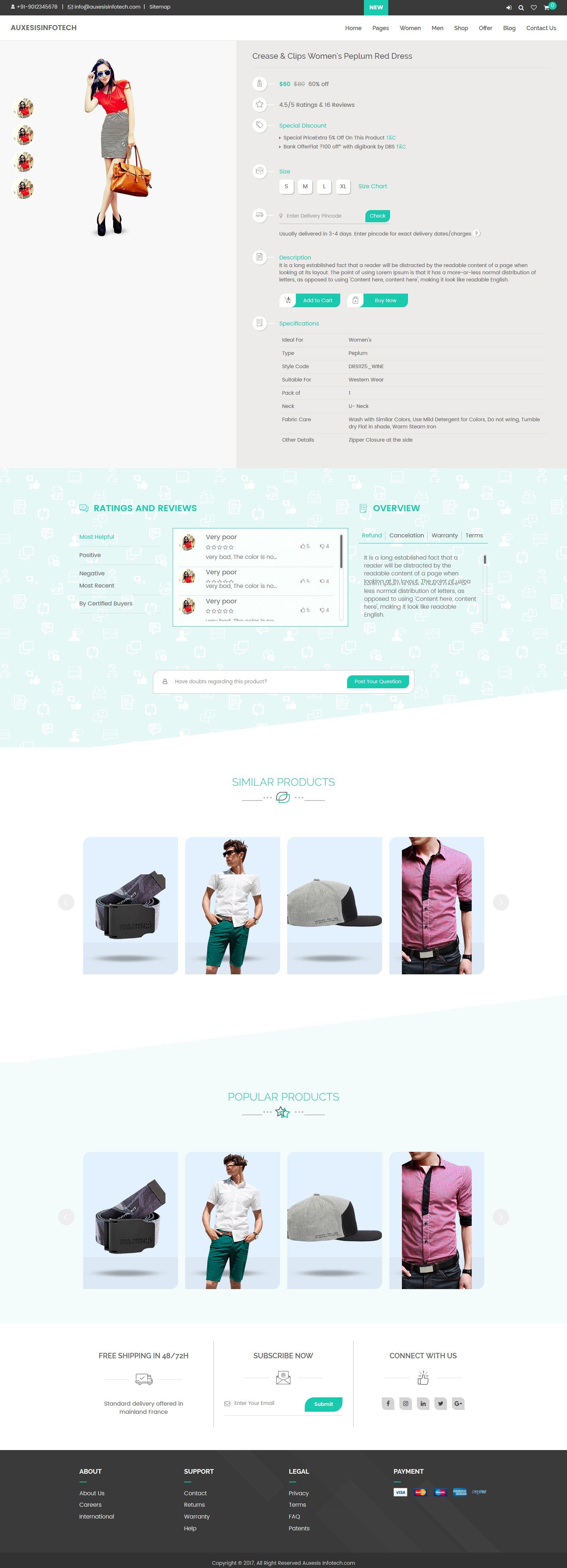 Spunky - Multi-Purpose HTML Template - HTML eCommerce Website ... on free smtp, free adobe, free vb,