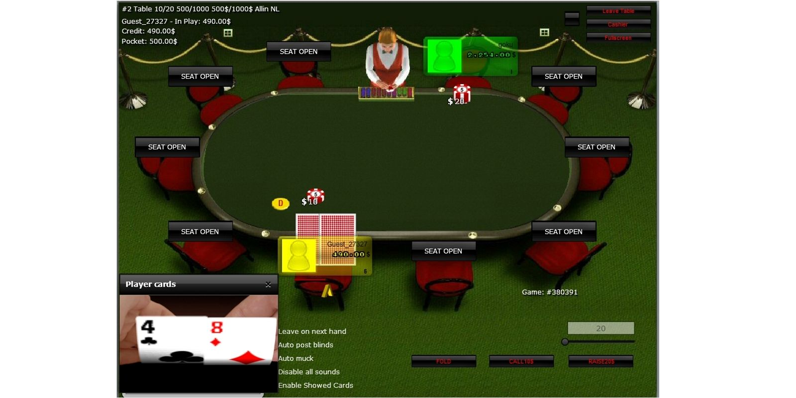 Java Flex And HTML5 Poker Engine