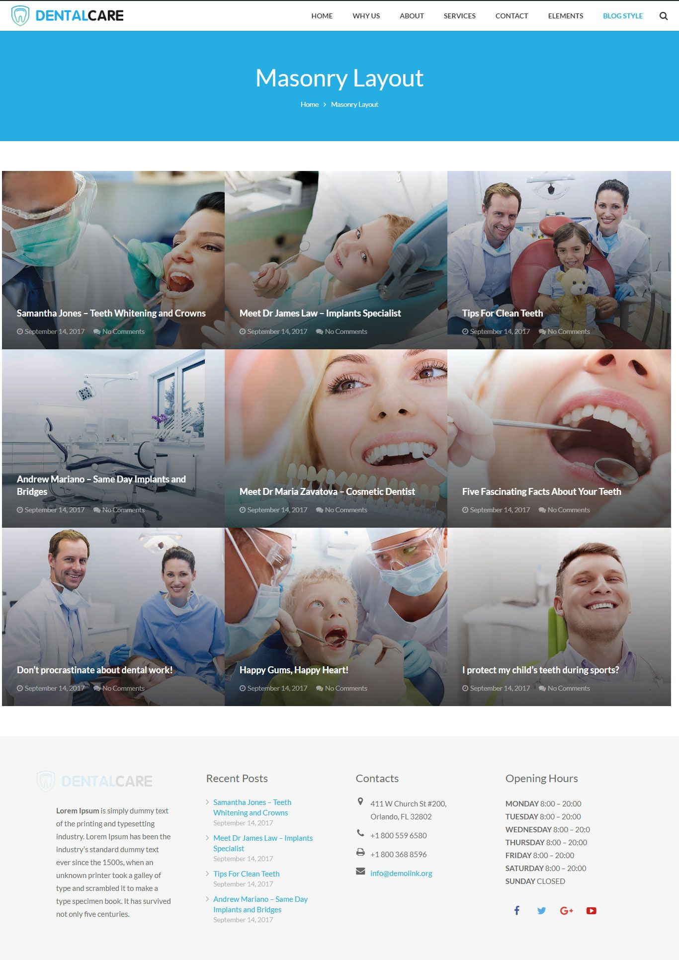 Dentist - Dental One Page WordPress Theme Screenshot 3