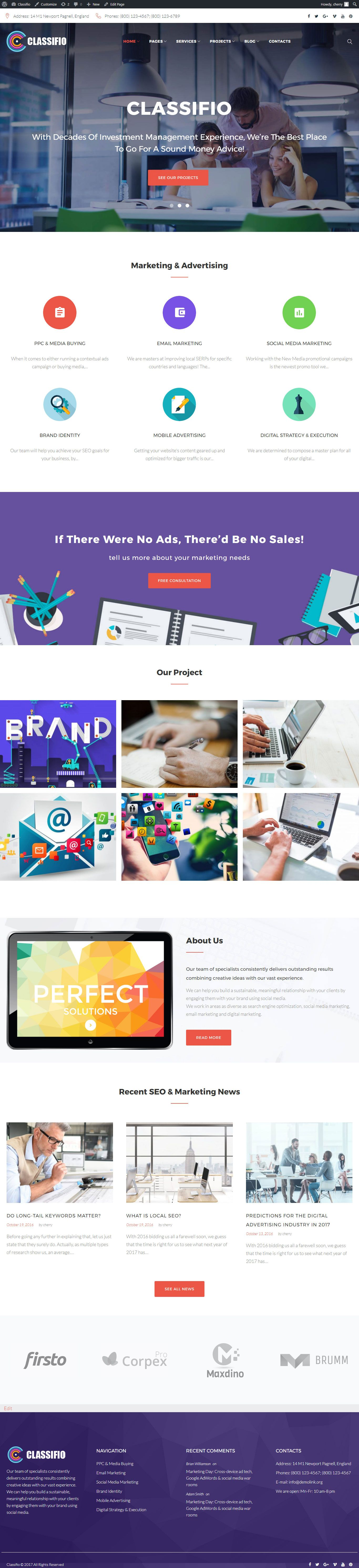 Cherry - Multi Purpose WordPress Theme Screenshot 7