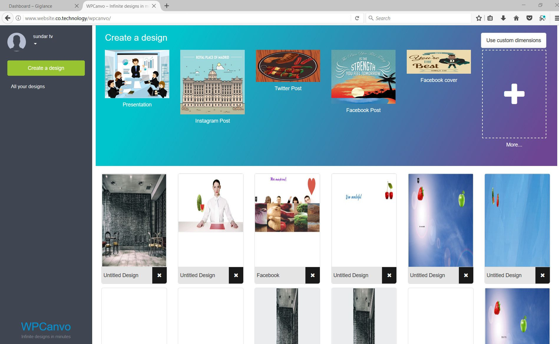 WPCanvo - DIY Graphic Designer WordPress Theme Screenshot 3