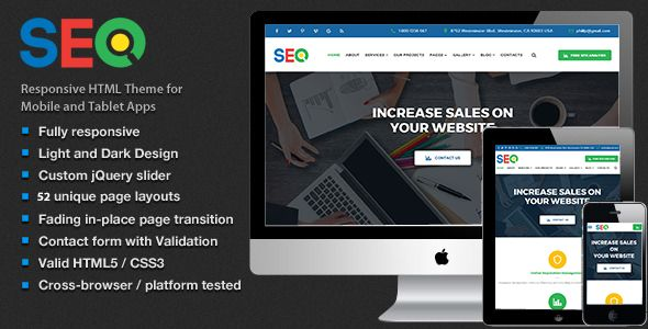 SEO - SEO And Digital Marketing Agency Template Screenshot 1