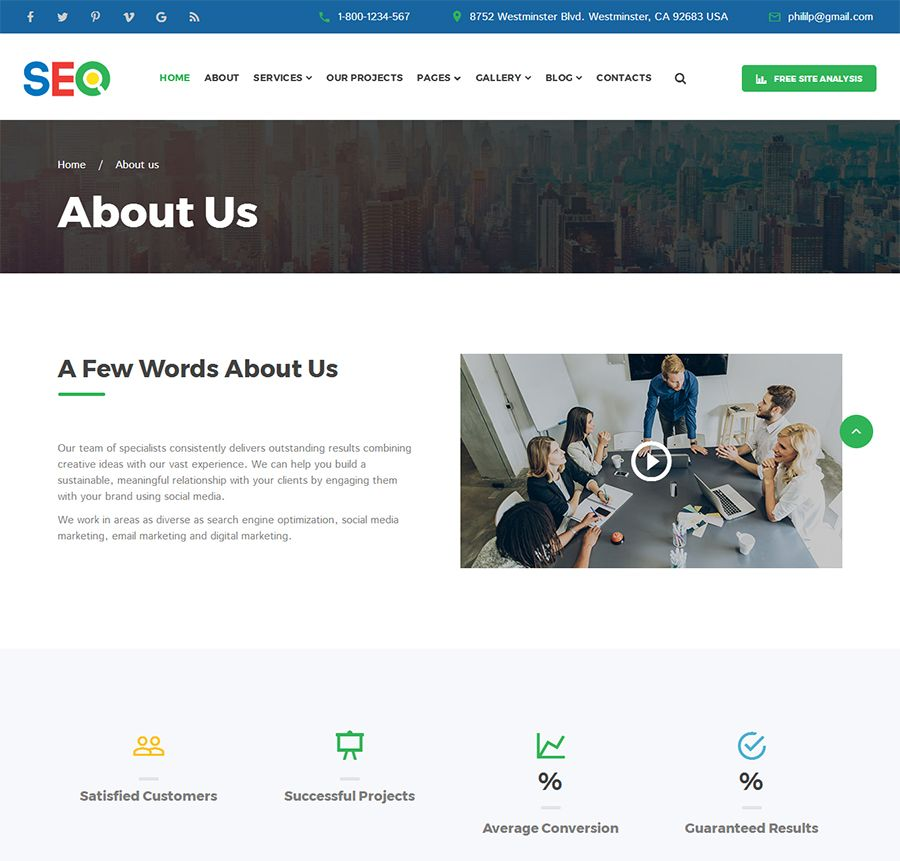 SEO - SEO And Digital Marketing Agency Template Screenshot 2