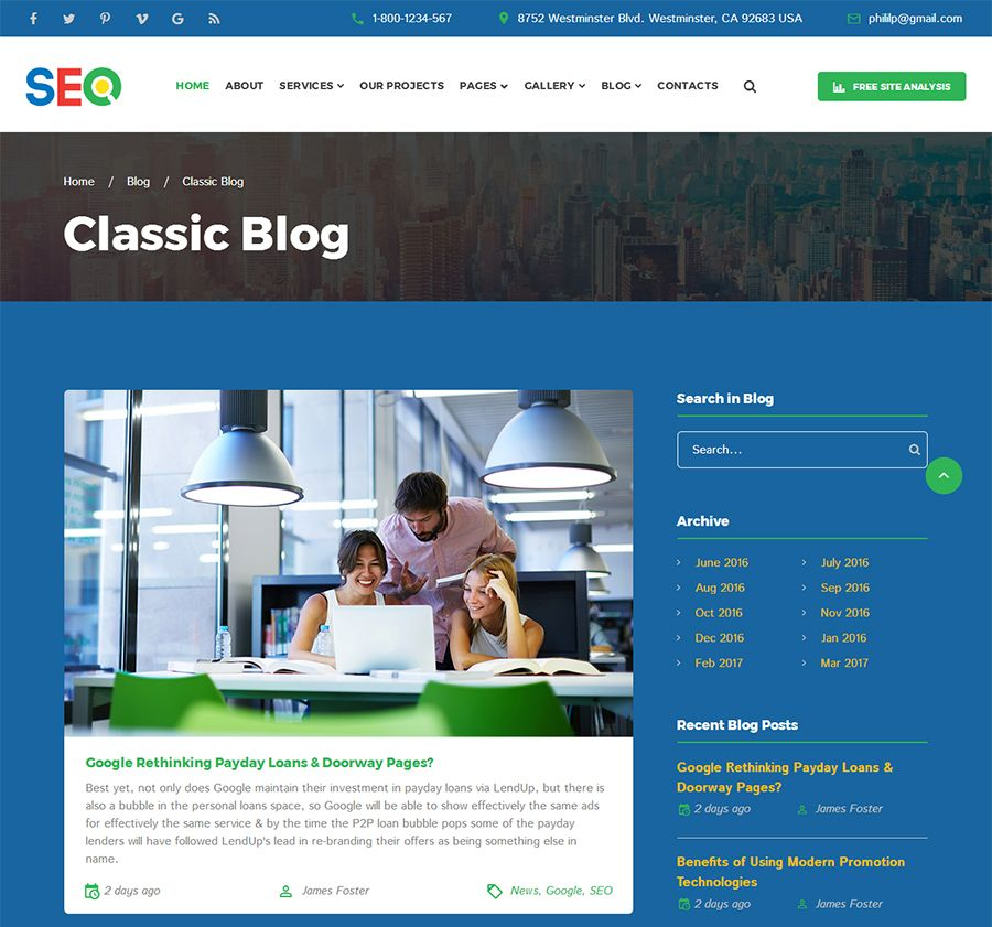 SEO - SEO And Digital Marketing Agency Template Screenshot 5