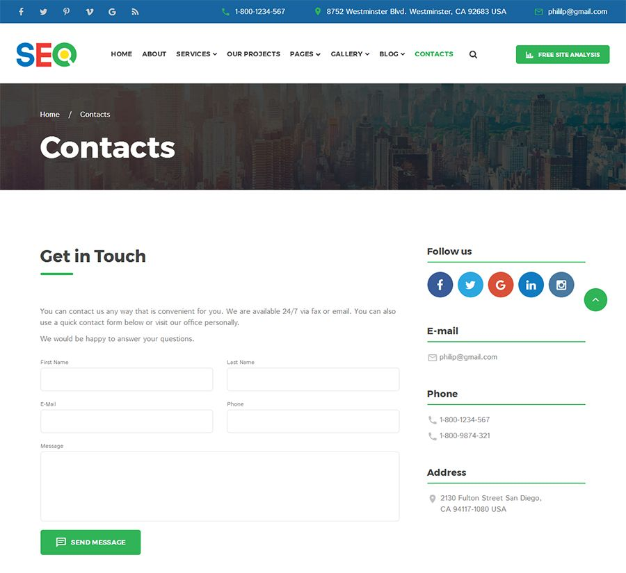 SEO - SEO And Digital Marketing Agency Template Screenshot 6