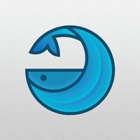 Moon Whale - Logo Template