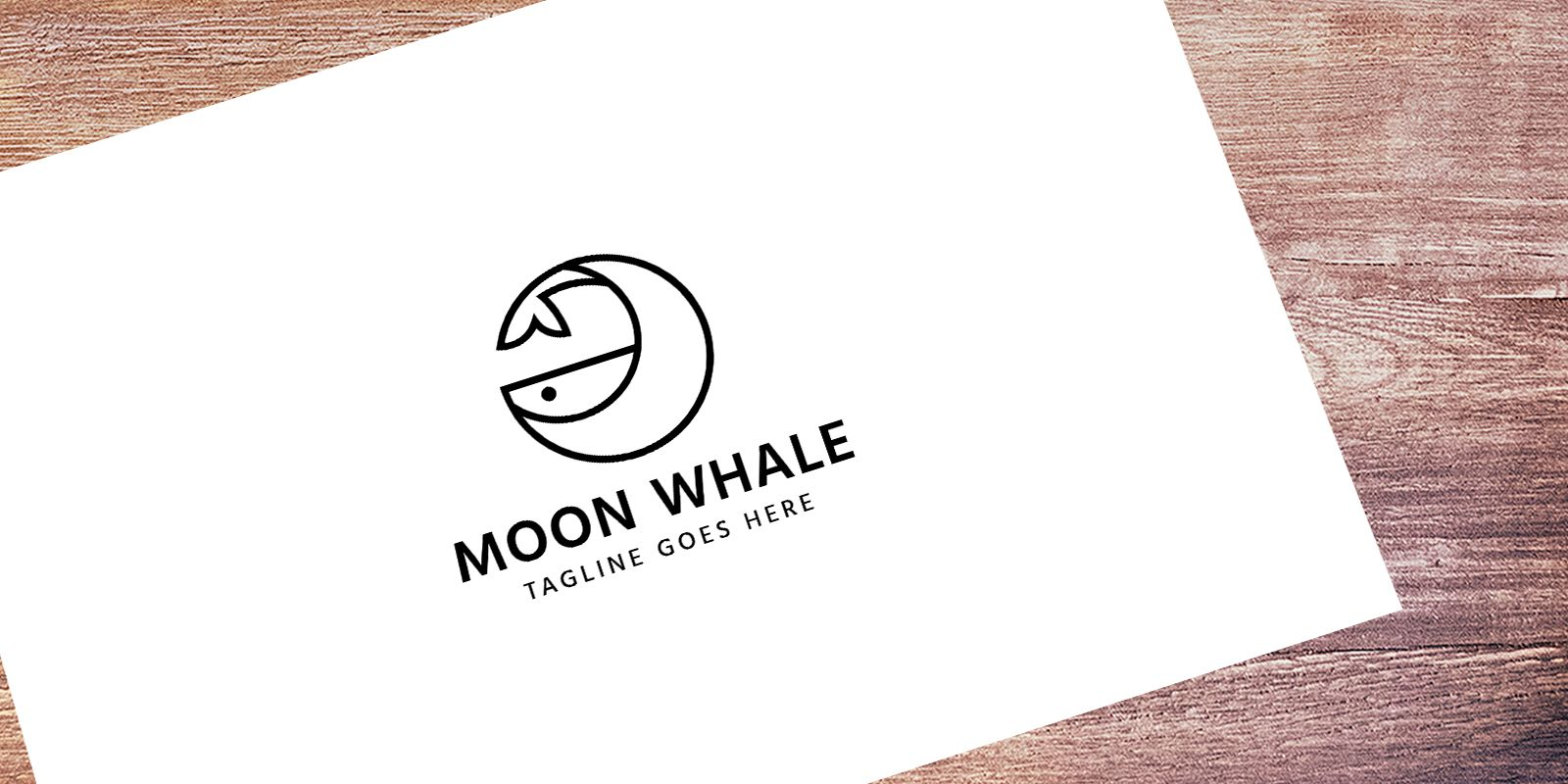 Moon Whale - Logo Template Screenshot 1