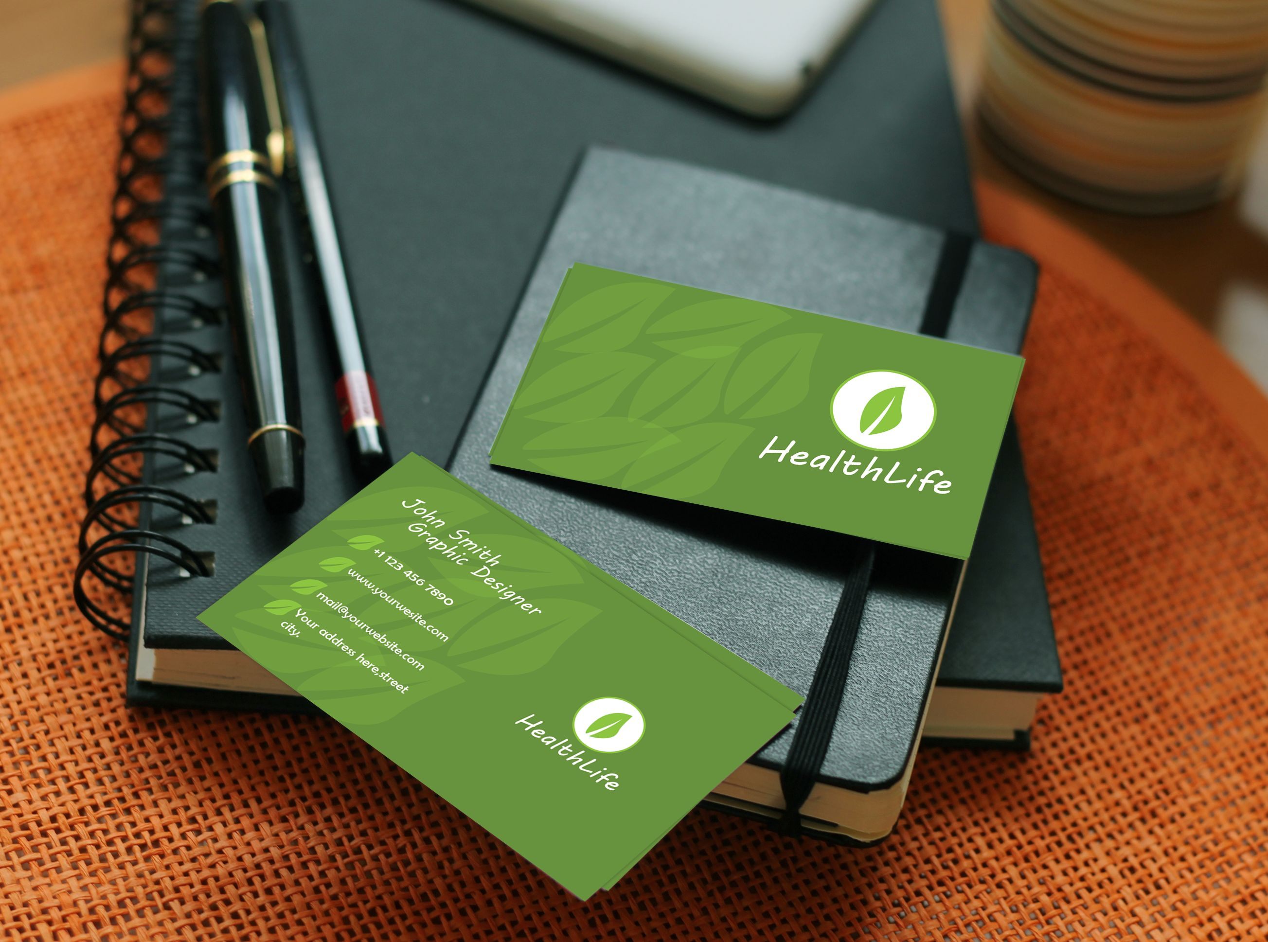 HealthLife Business Card Template Screenshot 1