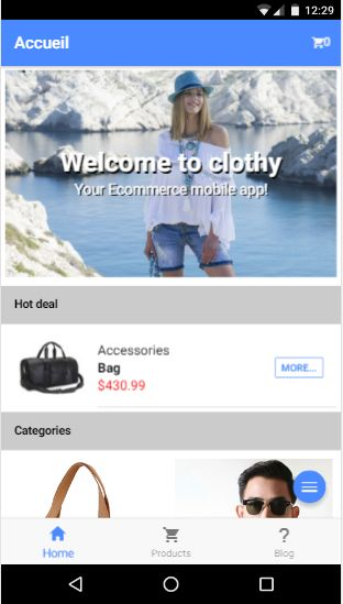Clothy Ionic 3 Ecommerce App With PHP backend Screenshot 1
