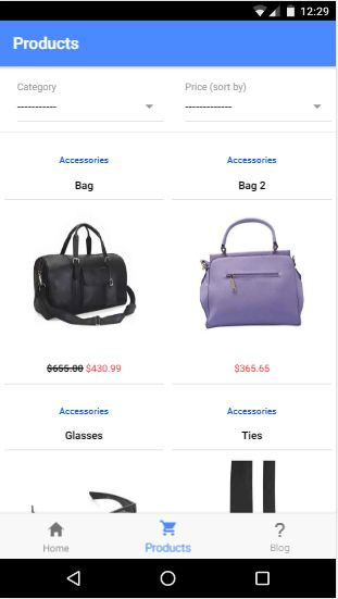 Clothy Ionic 3 Ecommerce App With PHP backend Screenshot 2