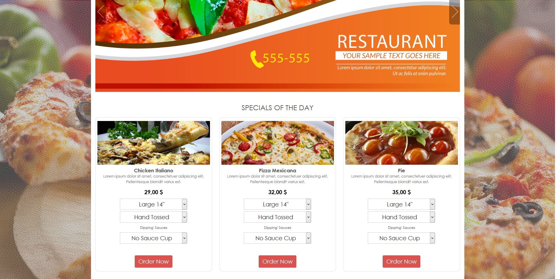 Simple HTML5 E-Commerce Template For Food Screenshot 1