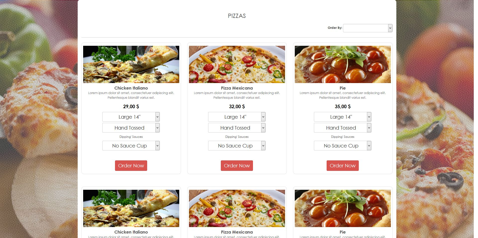 Simple HTML5 E-Commerce Template For Food Screenshot 2
